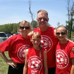 Camp Director Hoover and his family sporting the old school SSC T's.