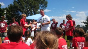 Here's Coach Hoover at the Camp Awards ceremony.
