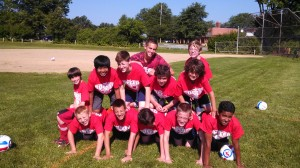 Coach Kobiashi built this group up to have a great time at camp !