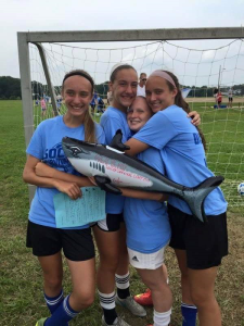 "These girls are enjoying the ""Goal of the Week""  award - They're now the BIG FISH !"